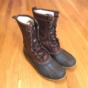 "LL Bean 10"" Waterproof Shearling Lined Boot"